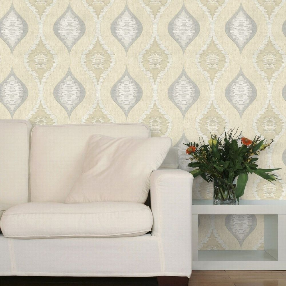 Belgravia San Marino Cream/Silver 3708 Wallpaper